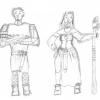Garion und Neferu (gezeichnet von Claas)