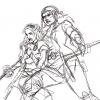 Lanyana & Swafngard Skizze (gezeichnet von Hyacinthley)