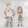 Asleif & Lanyana Chibis (gezeichnet von Lisa Anhäuser)