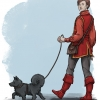 Rychard und Cyri, Hundespaziergang
