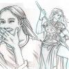 Skizzen: Isabella und Taja, Drags weibliche Chars