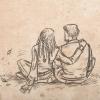 Skizze: Garion und Vesper im Herbst
