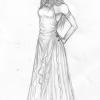 Sie hat ein Kleid!